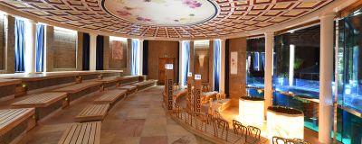 interior view of the koi sauna. Black Bedroom Furniture Sets. Home Design Ideas